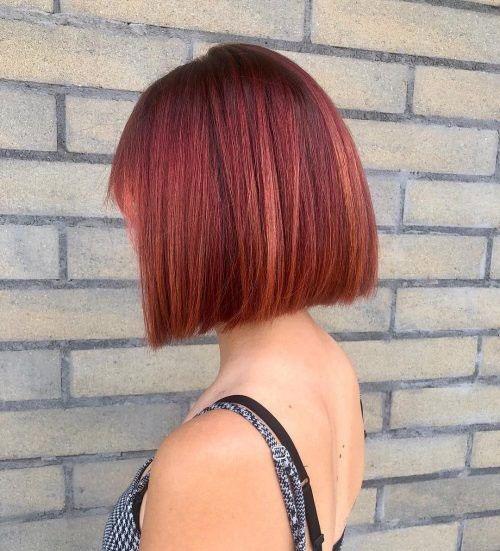 Red Bob Hair Cut-18