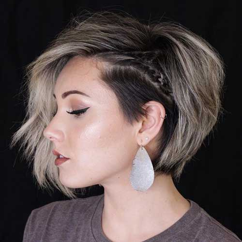 Easy Small Braids for Short Hair-19