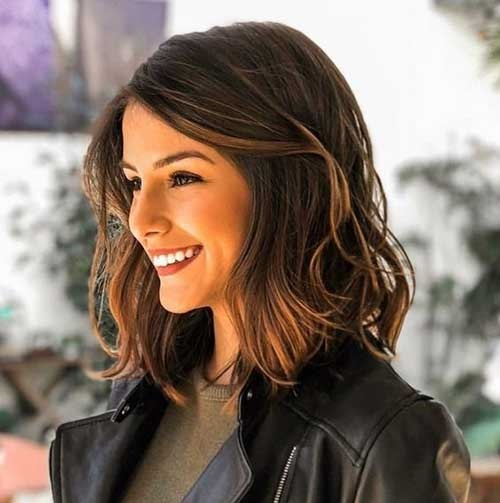 Medium Short Hairstyles-19