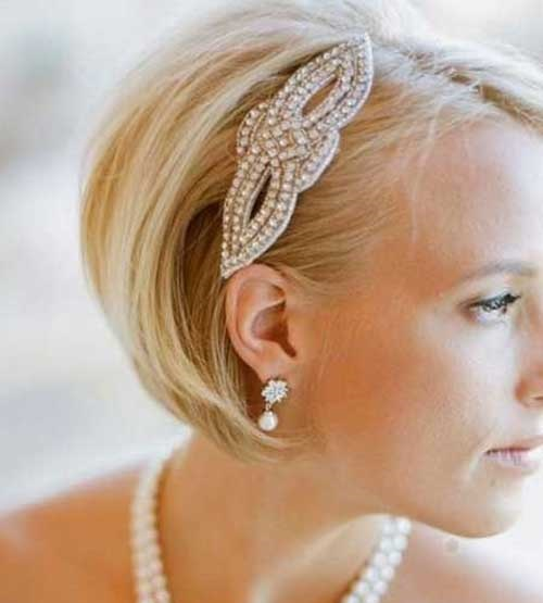 Wedding Hairstyles for Bob Hair Updos-19