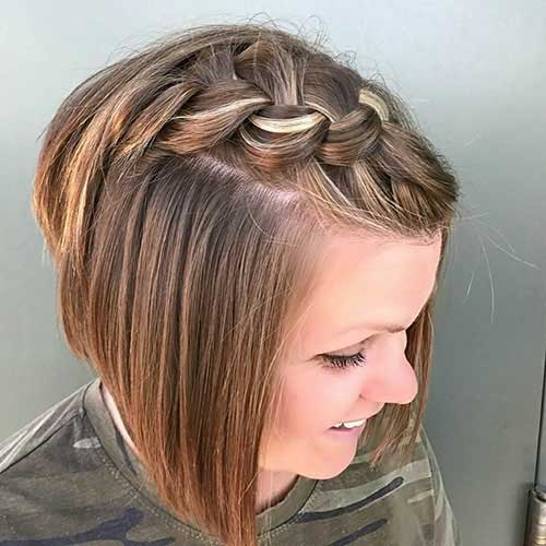 Easy Braided Bangs Updos for Short Hair-20