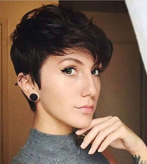 Thick Brown Hair Pixie Cut Styles-20
