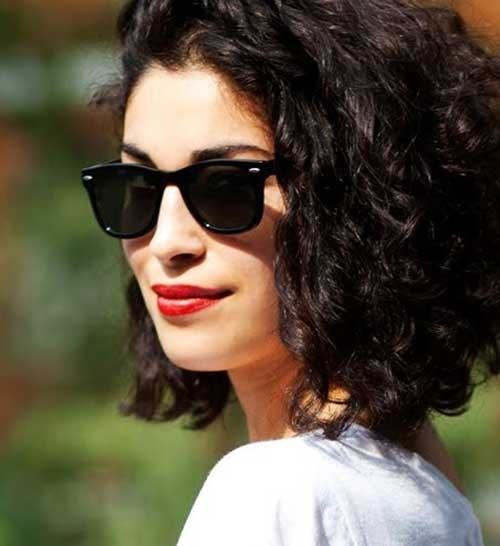 Short Thick Curly Hairstyles for Women-23