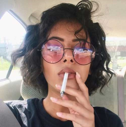 Short Natural Curly Hairstyles-24