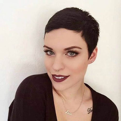 Dark Brown Pixie Cut Styles-50