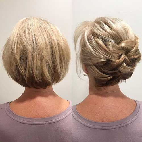 Modern Updo Hairstyles for Short Hair-8