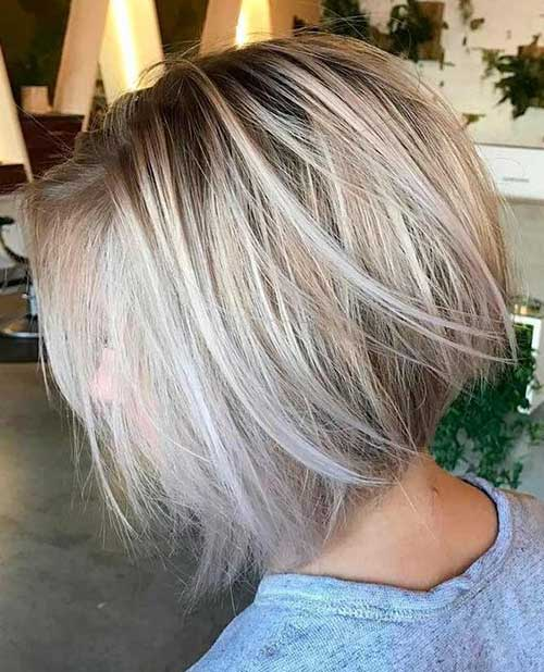 Short Stacked Hairstyles with Balayage-9