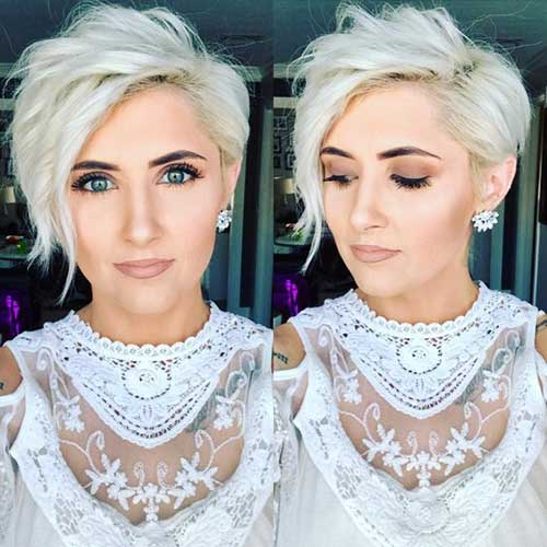 White Blonde Long Pixie Cut Styles-9