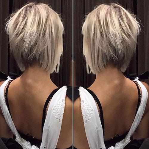 Back View Inverted Bob Haircuts