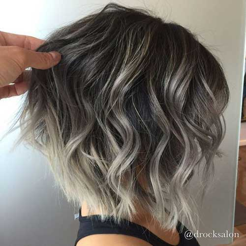 Highlights for Short Wavy Hair