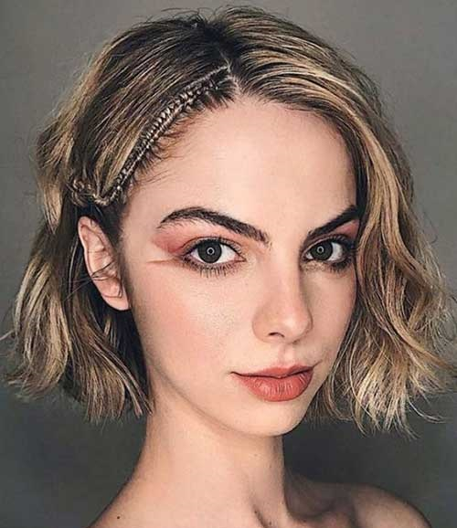 Short Hair with Side Braid