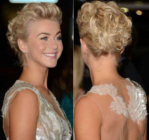 Updo Hairstyles for Short Curly Hair