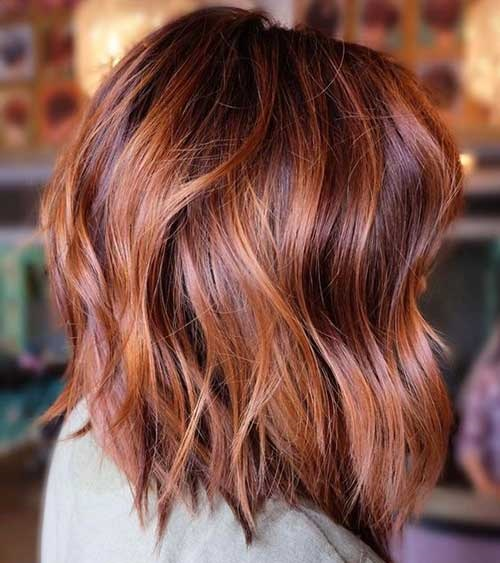 Wavy Short Hair with Highlights