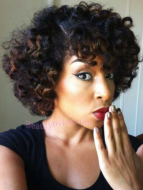 Natural Afro Hairstyles for Short Hair-6