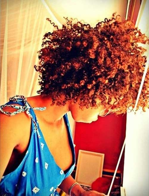 Cute Afro Hairstyles for Short Hair-7