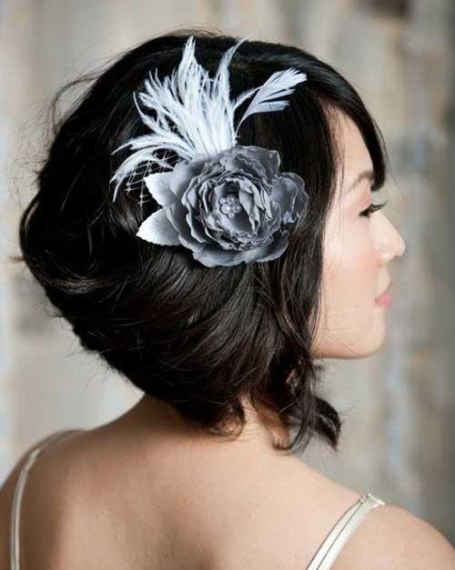 Short Hair Accessory Bridal Styles