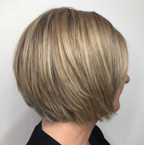 Ash Blonde Layered Bob Haircuts