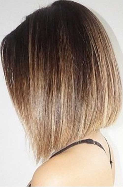 Ombre Short Straight Hair-22