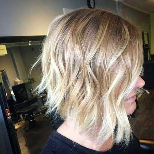 Bleach Blonde Ombre Short Hair