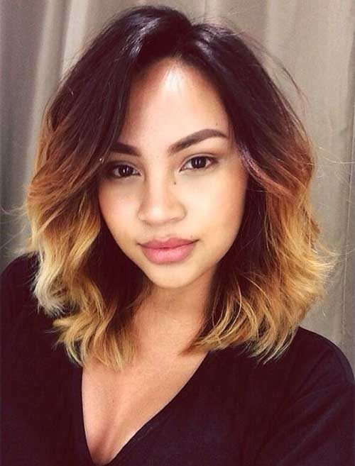 Bleached Ombre Short Hair-25