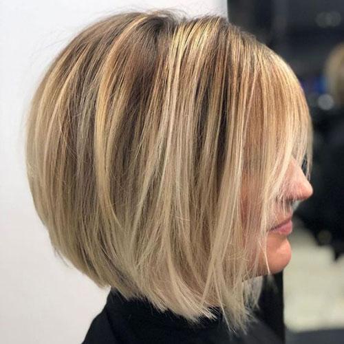 Blonde Balayage Layered Bob Haircuts 2019
