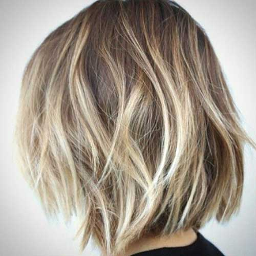 Blonde Highlights Ombre Short Hair