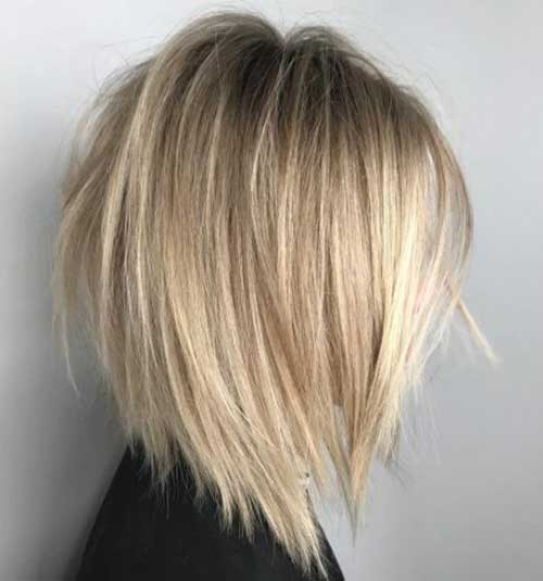 Blonde Layered Bob