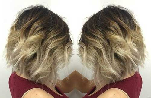 Ombre Short Hair for Brunettes