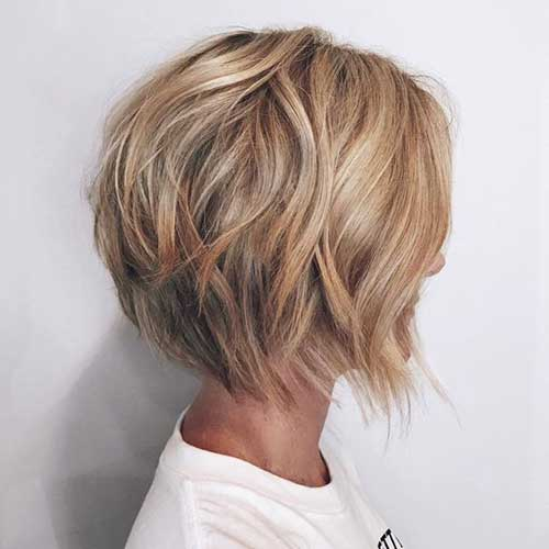 Graduated Bob Caramel Blonde Hairstyles