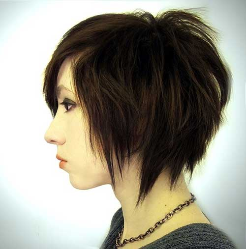 Dark Brown Layered Bob Haircuts