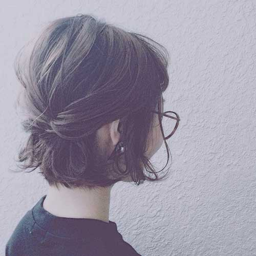 Easy Short Half Updo