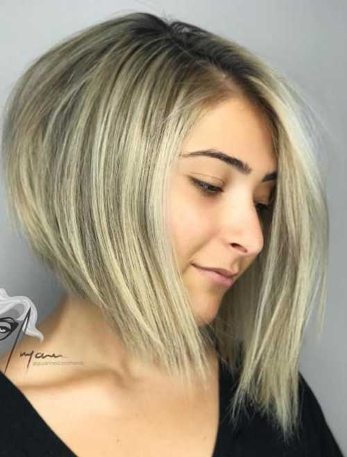 Graduated Bob Hairstyles for Round Face