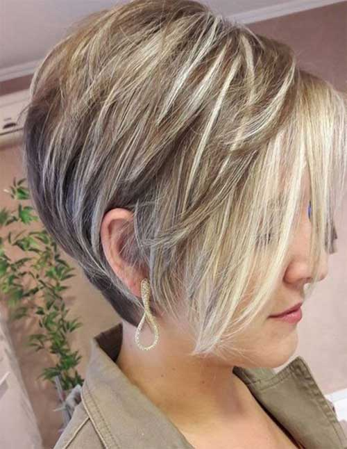 Graduated Pixie Bob Hairstyles