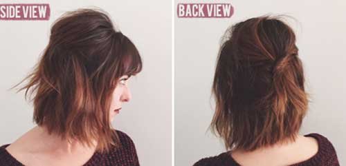 Choppy Short Half Updo