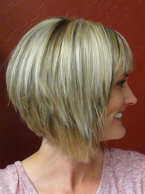 Layered Bob Haircuts Color Idea
