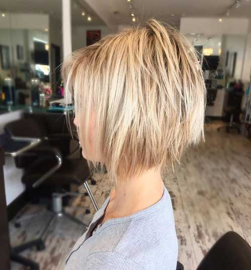 Razored Layered Bob Haircuts