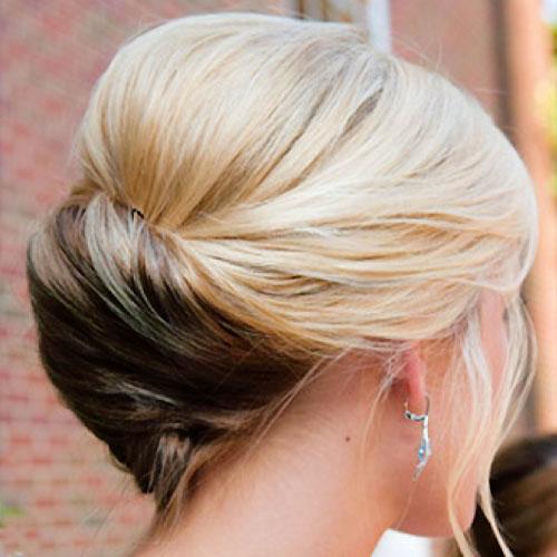 Short Classy Bun Hair Bridal Styles