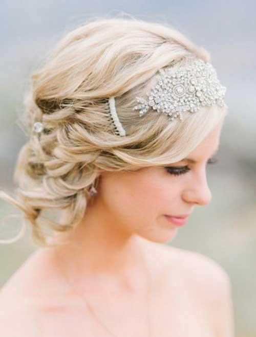 Low Bun Short Hair Bridal Styles
