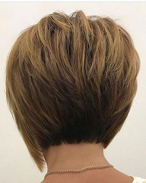 Inverted Short Haircuts for Women with Thick Hair