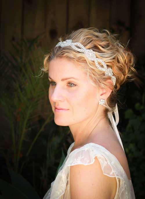 Short Wavy Hair Bridal Styles