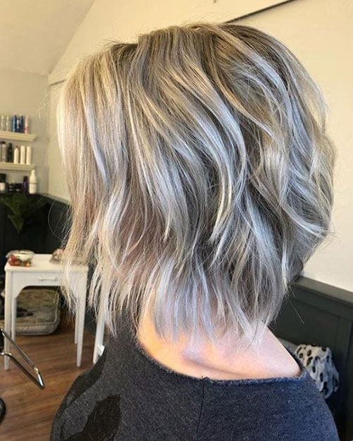 Soft Wavy Layered Bob Haircuts 2019