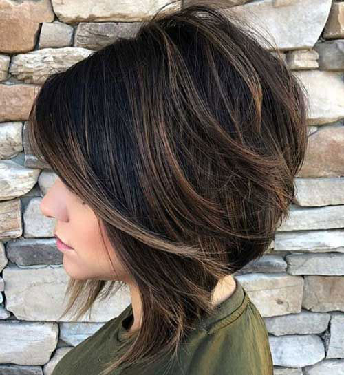 Thick Graduated Bob Hairstyles