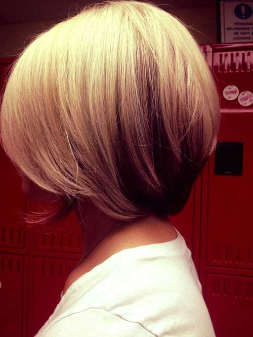 Two Colored Layered Bob Haircuts
