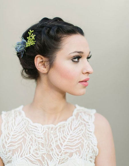 Updos for Short Hair Wedding