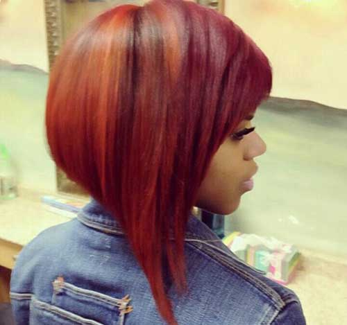 Cute Red Colored Inverted Bob Hairstyles-10