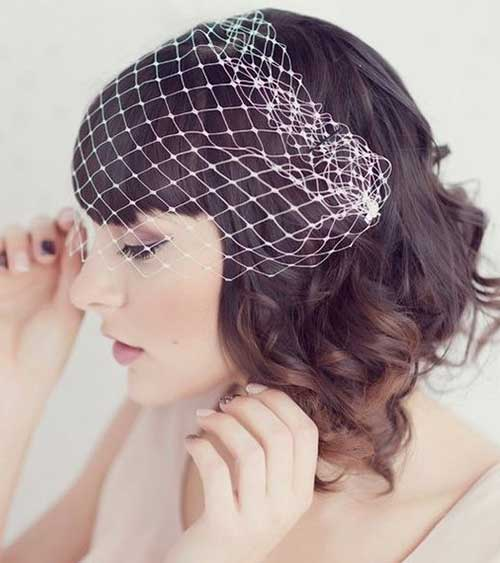 Short Hair Bridal Styles with Veil-10