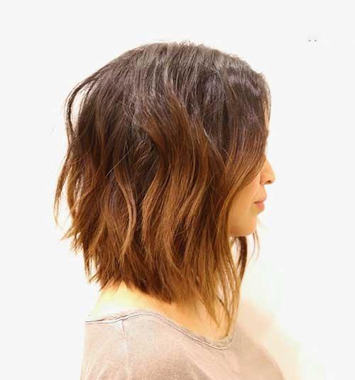 Choppy Layers Medium Short Haircuts for Women-11
