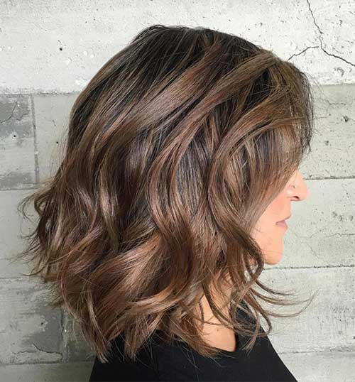 Cute Colored Short Thick Wavy Hair-11