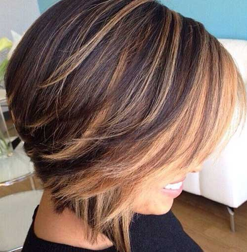 Inverted Bob Blonde Highlights Hairstyles-12