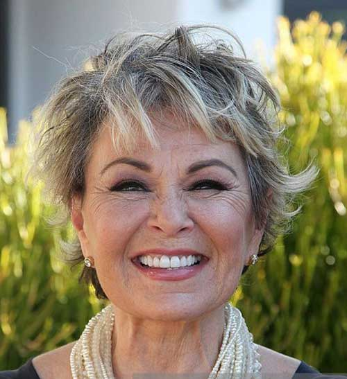 Messy Shaggy Pixie Cuts for Older Women-12